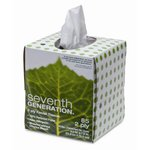 White, 2-Ply 100% Recycled Facial Tissue In A Pop-up Cube Box