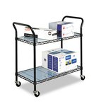 Dual Shelved Wire Utility Cart