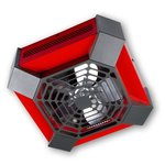 4000W Spider Garage Workshop Ceiling Fan Heater, Red