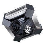 4000W Spider Garage Workshop Ceiling Fan Heater, Stainless Steel