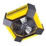 4000W Spider Garage Workshop Ceiling FanHeater, Yellow