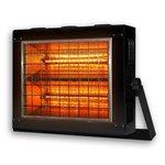 2000W Black, Weather-Resistant Infrared Radiant Heater 240 V