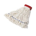 White, Large Looped-End Rayon Clean Room Mop Heads