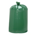 Light Green, 60 Gallon Giant 'Green' Low-Density Can Liners-38 x 58