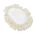 White Cotton Wedge Dust Mop Head