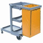 Janitor's Cart, 3 Shelves, Gray