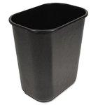 Black, 28 Quart Soft-Sided Wastebasket
