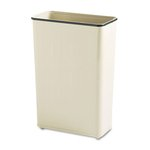 Almond, Rectangular Steel Fire-Safe Wastebasket- 24 Gallon