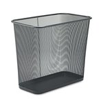 Black, 7.5 Gallon Rectangular Steel Mesh Wastebasket