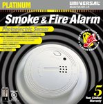 Large Ring Battery Operated Photoelectric Smoke & Fire Alarm