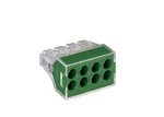 Green 8-Port Pushwire Connectors For Grounding & Bonding