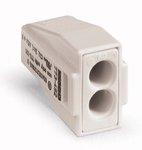 Light Gray 2-Port Pushwire Connectors For EEX e Application In Hazardous Area