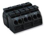 862-Series 3-Pole Terminal Block For Chassis Mounting, Black