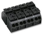 862-Series 4-Pole Chassis Mount Terminal Block, Black