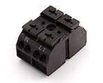 862-Series 2-Pole Chassis Mount Terminal Block, Black