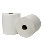 EcoSoft Universal Roll Towels, White