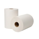 EcoSoft Universal Roll Towels, 8 in x 425ft, White