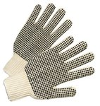 Ladies Cotton/Polyester PVC Dot String Knit Gloves