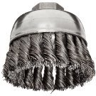 """3.5"""" Crimped Wire Cup Brush with .014"""" Bristle Diameter"""