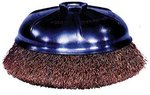 "3"" Crimped Wire Cup Brush with .014 Bristle Diameter"