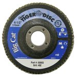 "7"" Big Cat Abrasive Flat Flap Disc with 40 Grit"