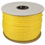 "1/4""x600' Yellow Monofilament Poly Rope"