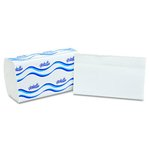 White, 250 Count 1-Ply Embossed Singlefold Paper Towels-9.45 x 9