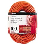 Outdoor Round Vinyl Extension Cords 100 ft