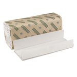 Green Seal Certified White C-Fold Hand Paper Towels, 150 Towels