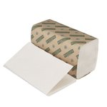 Green Seal Certified White Single-Fold Hand Paper Towels