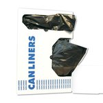 Black Linear Low-Density Can Liners w/ 8 to 10 Gal Capacity