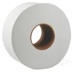 JRT White Jumbo 9.25 in. Wide 2-Ply Tissue Paper Roll 2000-ft.