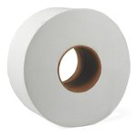 JRT White Jumbo 12 in. Wide 2-Ply Tissue Paper Roll 4000-ft.