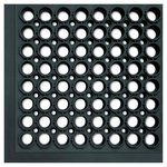 Safewalk-Light Black Anti-Fatigue Drainage Mats 36X60X0.5