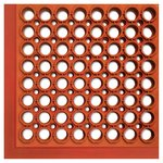 Safewalk-Light Terra Cotta Anti-Fatigue Drainage Mats 36X60X0.5