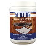 Scrubs Lemon Scented Furniture Polish Wipes