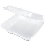 Vented Snap-It Hinged 1 Comp Carryout Foam Container 9-1/4X9-1/4X3