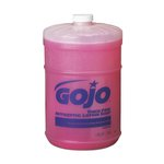 Pink Antimicrobial Lotion Soap in Flat-Top Gallon Container
