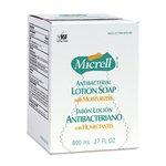 Micrell Bag-in-Box Antibacterial Lotion Soap 800 mL Refills 12 ct