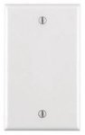 1 Gang Blank Plastic Wall Plate, White