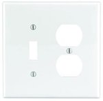 2-Gang Receptacles & Toggle Switch Wall Plate Combo, White