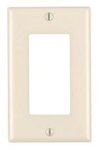 1-Gang Plastic Rocker Switch Wall Plate, Almond