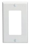1-Gang Plastic Rocker Switch Wall Plate, White