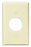 1-Gang Plastic Receptacle Wall Plate, Ivory