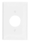 1-Gang Plastic Receptacle Wall Plate, White
