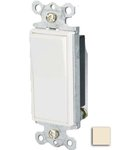 15 Amp Single-Pole Rocker Switch, Almond
