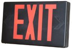Black LED Exit Sign w/ Red Letter & Battery Backup