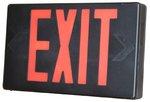 Black LED Exit Sign w/ Red Letter & Battery Backup
