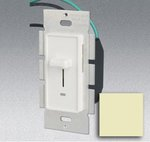 Single Pole 600W Slide Dimmer w/ LED Light, Ivory