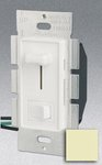 Single Pole 1000W Slide Dimmer w/ Rocker Switch, Ivory